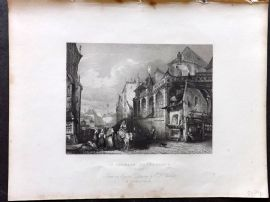 Holmes C1840 Antique Print. St. Germain L'Auxerroi's, Paris, France